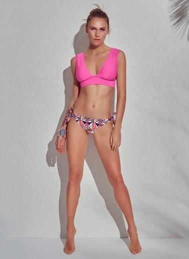 Morhipo Beach Geniş Üçgen Renkli Bikini Pudra